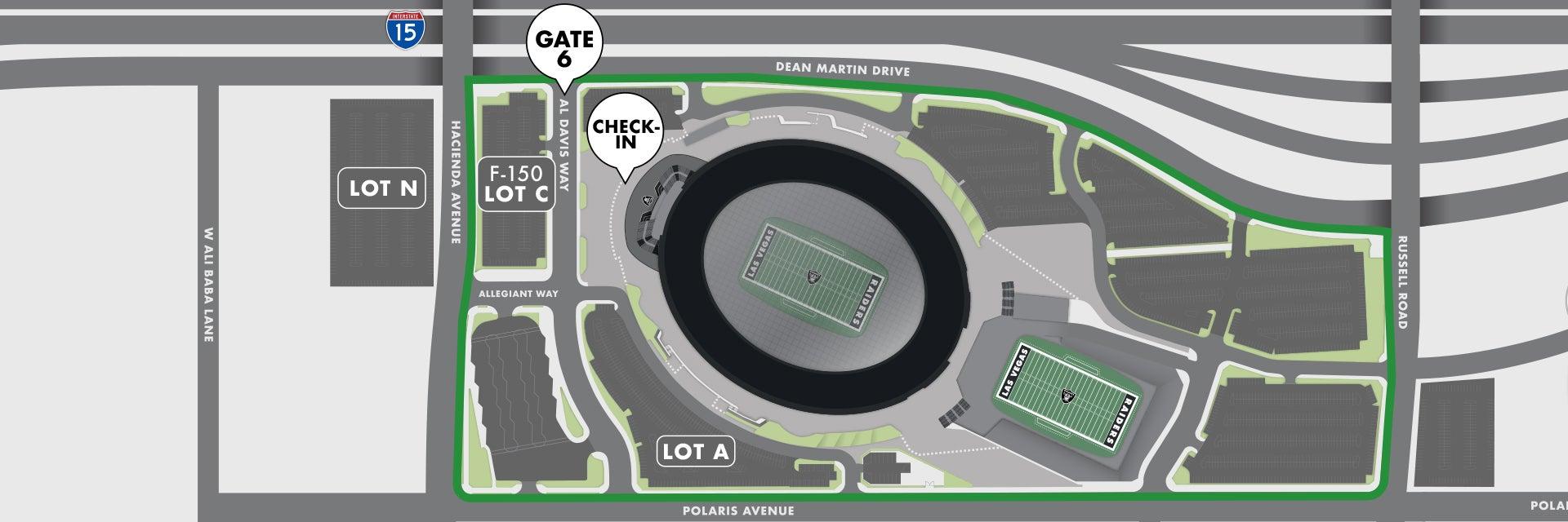Allegiant Stadium Tours Parking Map