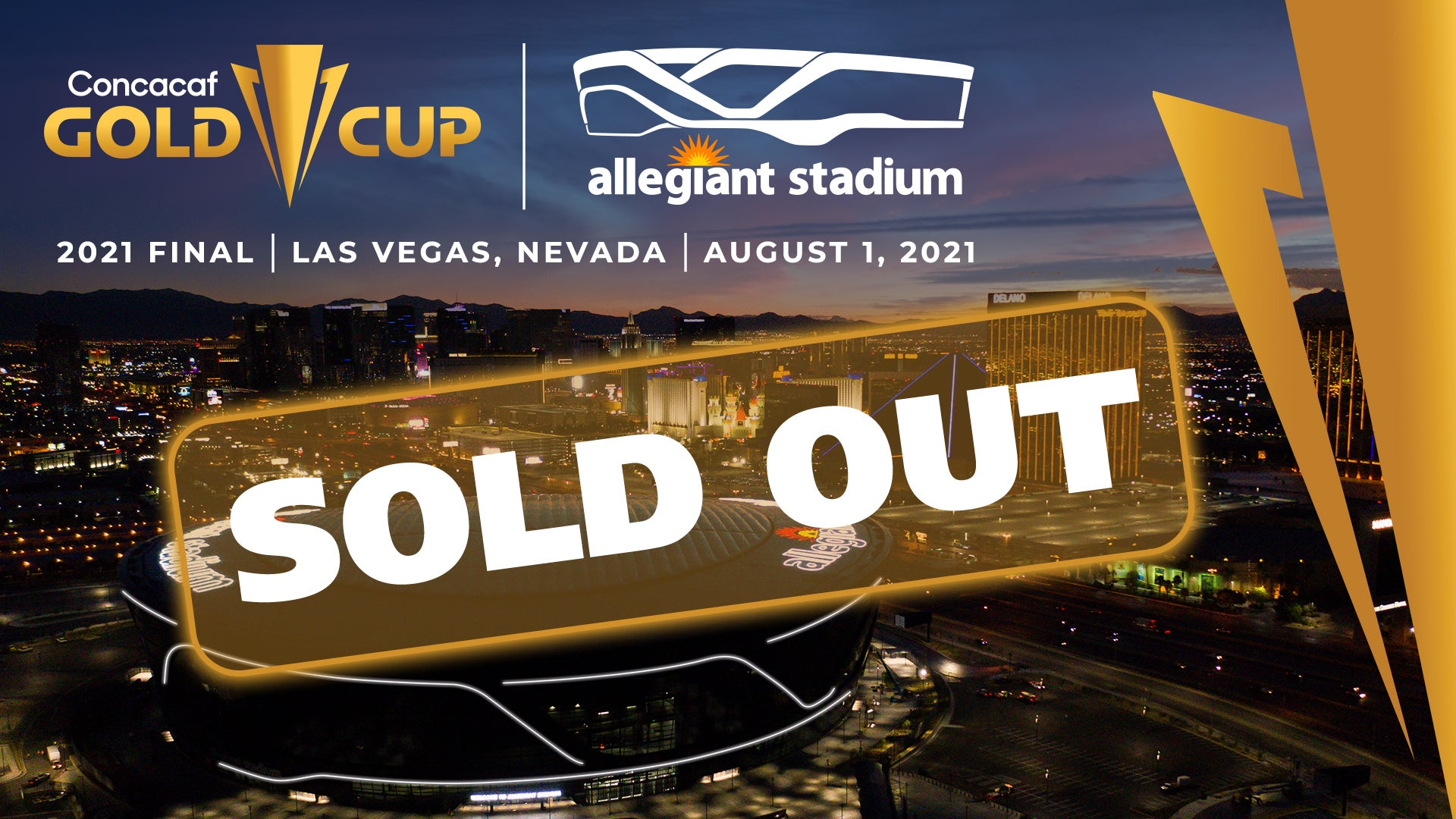 More Info for Concacaf Gold Cup Final Sells Out in 90 Minutes