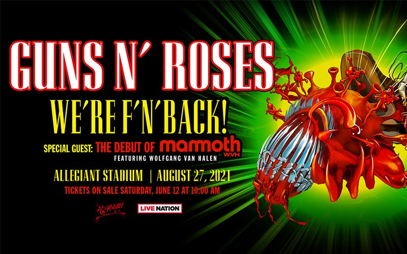More Info for ICONS GUNS N' ROSES WILL BE FIRST ROCK BAND TO HEADLINE LAS VEGAS' BRAND NEW ALLEGIANT STADIUM