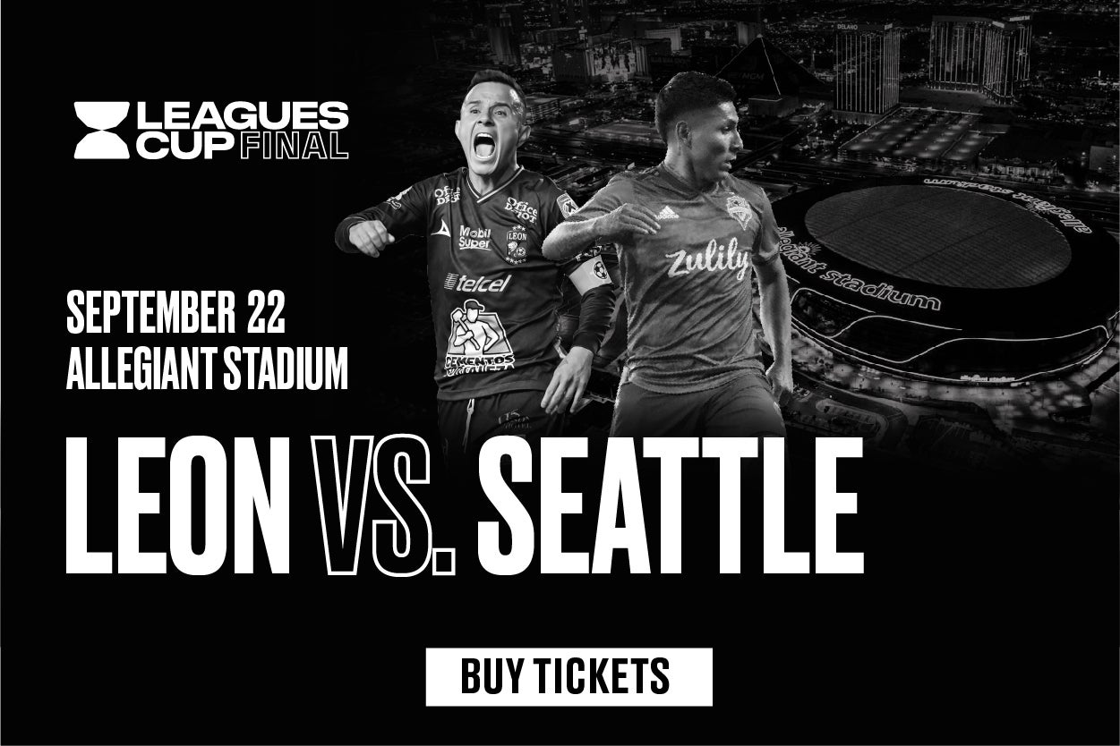 More Info for MLS vs. LIGA MX Leagues Cup Final Set: Seattle Sounders FC will face Club León September 22 at Allegiant Stadium in Las Vegas