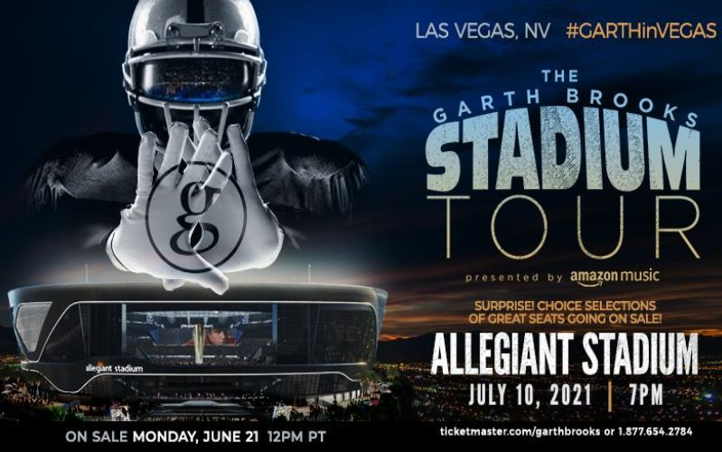 More Info for Many Great Seats Just Released for Garth Brooks at Allegiant Stadium on July 10