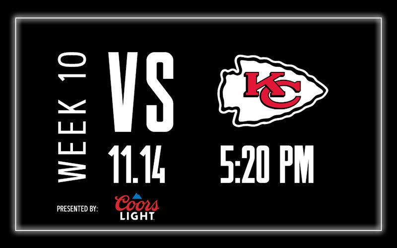 More Info for Raiders vs. Chiefs - Week 10