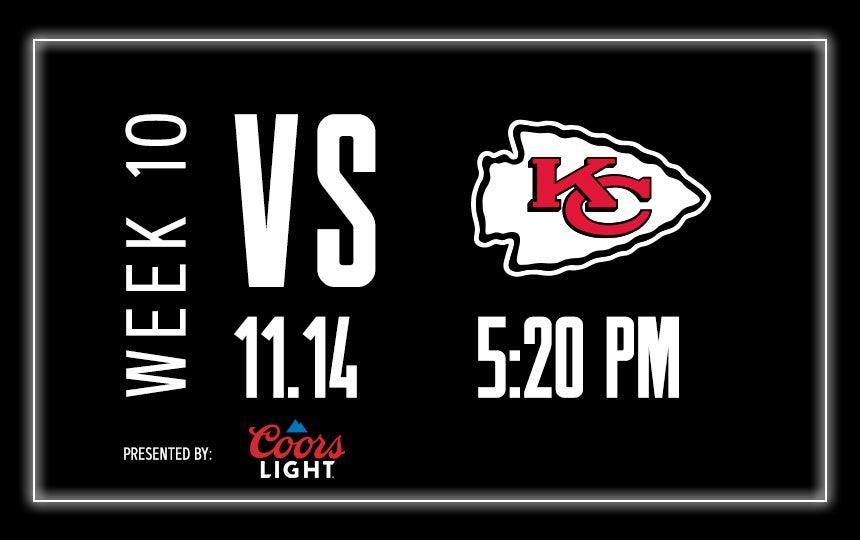 Raiders vs. Chiefs - Week 10