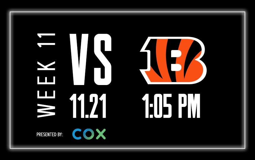 Raiders vs. Bengals - Week 11