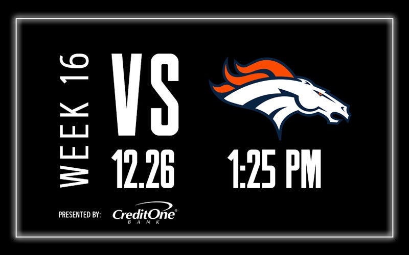 More Info for Raiders vs. Broncos - Week 16