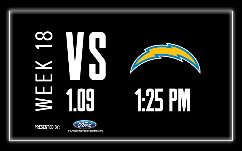 More Info for Raiders vs. Chargers - Week 18