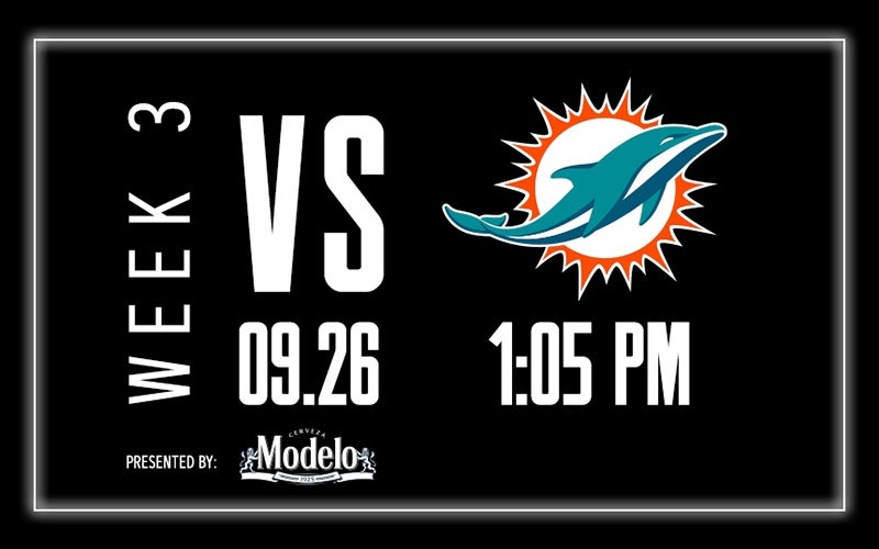 More Info for Raiders vs. Dolphins - Week 3