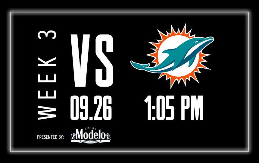 Raiders vs. Dolphins - Week 3