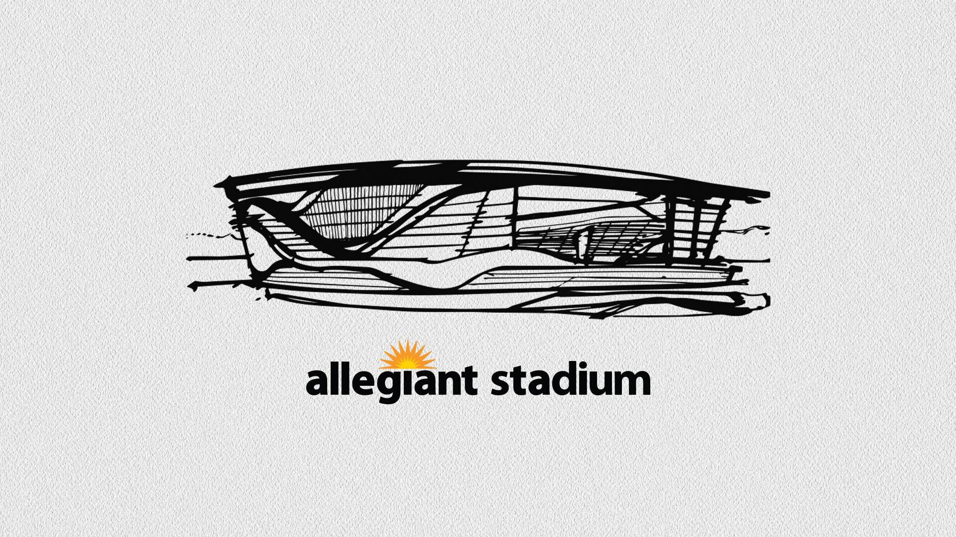 Allegiant Stadium Design Wallpaper