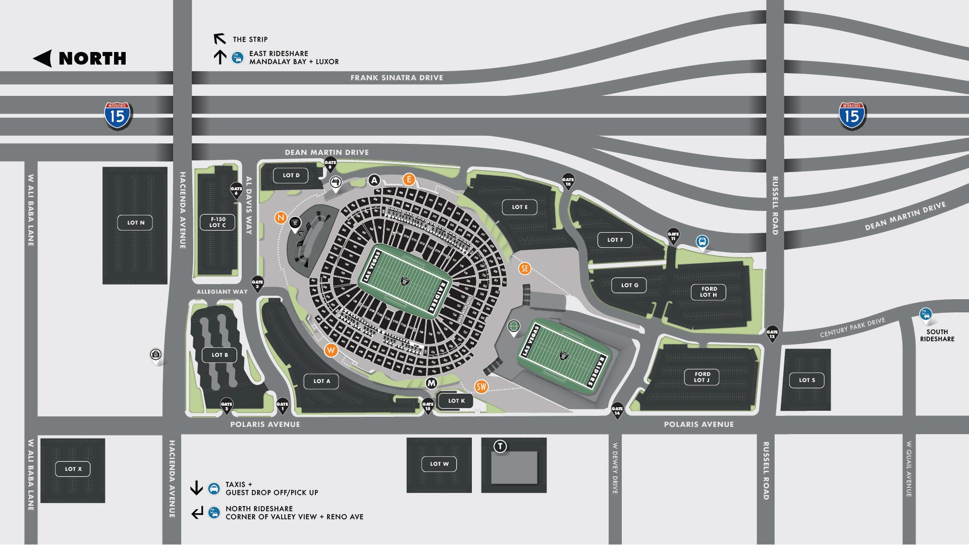 Parking and Shuttle Map