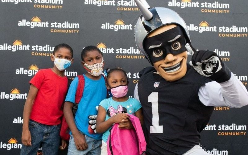 More Info for The Las Vegas Raiders and Allegiant Stadium Participate in Back-to-School Drive Through Nevada Partners