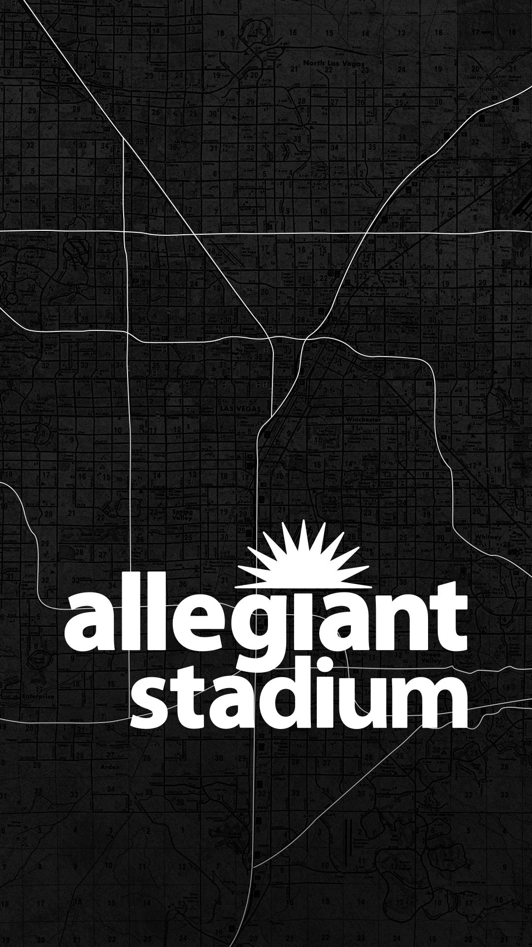 Allegiant Stadium Wallpaper Vegas Map